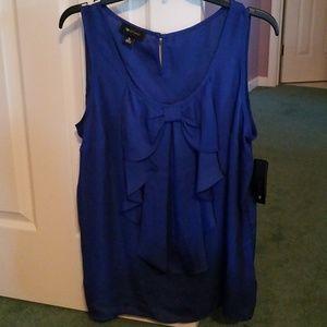 XL blue tank dress top